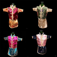 Wholesale Chinese Brocade Pouches - Retro Chinese Silk Brocade Wine Bottle Cover Creative Home Party Table Decoration Pouch Ethnic Craftchampagne Packaging Bags 7 5lh Y