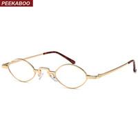 f672bdebc6 Peekaboo vintage small eyeglasses frame for woman metal frame men women  nerd glasses clear lens eyewear unisex
