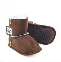 bebekler kız kar botları toptan satış-Yeni Çizmeler Kış Bebek Ayakkabı Yenidoğan Erkek ve Kız Sıcak Kar Botları Bebek Yürüyor Prewalker Ayakkabı boyutu 11 cm-12 cm-13 cm