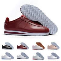 innovative design b37b9 12514 nike classic cortez Classique Cortez Basic Cuir Casual Chaussures Pas Cher  Mode Hommes Femmes Noir Blanc Rouge Or Skateboard Sneakers Taille 36-44