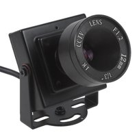 camara mini cctv video color al por mayor-Mini HD 600TVL 1/3 CMOS Security Video Audio CCTV de color con lente de 12 mm CCT_534