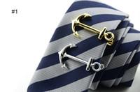 gentlemen krawatte clip groihandel-Beliebte Krawattenklammern silbrig goldene Metall Gentleman Chic Krawattenverschluss hochwertige Krawattenstange Multi-Stile geben Schiff frei