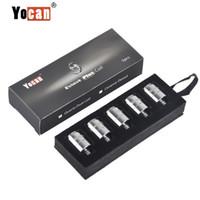 Wholesale yocan replacement resale online - Authentic Yocan Evolve Coil Replacement Coils For Yocan Evolve Plus Wax Vaporizer Pen QDC Quartz Dual Coil