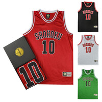 Wholesale school uniform costumes cosplay - Anime Slam Dunk Cosplay Costume Shohoku Sakuragi Hanamichi Basketball Jersey T Shirt Sport Wear School Basketball Team Uniform