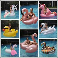 Wholesale pool ride for sale - 17 Styles Giant Inflatable Unicron Floats Tubes Pool Swimming Toy Ride On Pool Unicron Floating Bed Swim Ring for Water Sports CCA9349