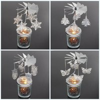 linternas de velas al por mayor-Titulares de la vela de la originalidad del metal para el regalo del negocio Candlestick Boda Linternas marroquíes giran el candelero Decoración creativa de la tabla 12 95km jj