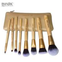natur pcs großhandel-IMAGIC Make Up Pinsel 8 Stück Pinsel Set Kit Professional Natur Pinsel Beauty Essentials Make-up Pinsel mit Tasche