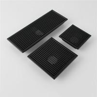 ingrosso odore del bagno-L'acciaio inossidabile nero SUS 304 scarichi l'inclinazione delle mattonelle di scarico del pavimento del pavimento delle mattonelle dello scolo di scarico del pavimento anti-odore 110-300MM