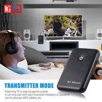 Wholesale tv bluetooth transmitter adapter - 3.5mm Wireless 2 in 1 Bluetooth 4.2 Receiver Transmitter Receiver Adapter Music A2DP For Computer Tablet PC TV Mp3