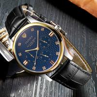 relógio da semana venda por atacado-Yazole novo relógio de quartzo homens relógios top marca de luxo famoso relógio masculino relógio de pulso de negócios para o homem com a data data 24 horas hora