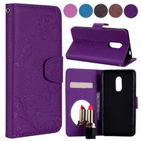 Wholesale card holder mirror for sale – best Wallet PU Leather Card Holder Slot Hard Back Cover For IphoneX s Plus Fashion Lady Makeup Mirror Phone Case