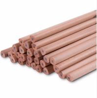 standart ahşap kalemler toptan satış-10 Adet / grup Siyah Üçgen Standart Kalemler 2 H HB 2B Doğa Ham Ahşap Kalem Çizim Kalem Yazma Kırtasiye Yüksek Kalite