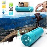becherhalterlautsprecher großhandel-Tragbare 570 ml Sportwasserflasche Smart Water Cup Eingebauter Handyhalter mit Bluetooth-Lautsprecher