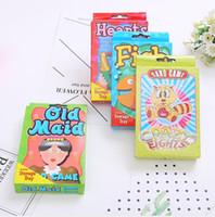детские игрушки для детей оптовых-Детские игровые карты забавные персонажи пасьянс профессиональные рыбы животные познавательные карты дети развивающие игрушки, опираясь играть в карты