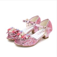 Wholesale Fishing Snow - 2018 Spring New Korean Girl Princess Sandals Bow High heels Ice and Snow With the same paragraph Girls Fish