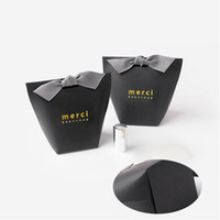 Wholesale wedding thank bags for sale - Group buy Fold Gift Boxes Gilding Fashion No Ribbon French Thanks Merci Box Paper Bag Wedding Favors Party Gifts hb UU