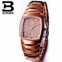 мужские часы с вольфрамовым сапфиром оптовых-2017 Швейцария Binger мужские часы Luxury Brand часы мужские кварцевые часы Вольфрам сталь Сапфир водонепроницаемый наручные часы
