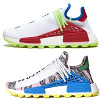pharrell vente nmd achat en gros de-Adidas NMD Human Race Trial Pack Solaire NERD Homecoming hommes femmes chaussures de course holi Core noir sport baskets taille 36-45