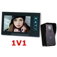 video a prueba de agua al por mayor-7''color TFT LCD intercomunicador de video por cable video de agua a prueba de oxidación de video con control de bloqueo eléctrico función de manos libres