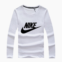 shirts tigre da moda venda por atacado-Moda 2019 dos homens de manga comprida de moda de algodão primavera outono roupas de designer em torno do pescoço esporte tees t camisas masculinas