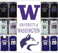 Wholesale Hot Washington - HOT Washington Huskies University NCAA Stitched embroidery Swingman jerseys Jersey 20 Markelle FULTZ SHIRTS cheap wholesale birthday gift
