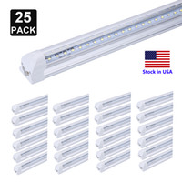 Wholesale gs shop for sale - Group buy V Shaped Double Side Rows FT LED Tubes T8 LED ft ft ft Integrated LED Tube Light Cooler Door Tube Shop Light