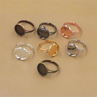 Wholesale bezel ring base resale online - BoYuTe Gold Plated MM MM MM MM MM MM Adjustable Ring Blank Bezel Tray Cabochon Base Settiing Jewelry Accessories