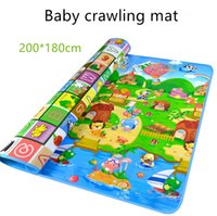 Wholesale kids puzzle rugs resale online - Baby Crawling Play Puzzle Mat Children Educational Carpet Toy Double sided Soft Floor Game Carpet Toy Developing Mats Children Kids Rug