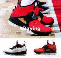 Wholesale diamond sneakers - 2018 New King 15 J 15s Red Diamond Turf AZG Zoom Generation Mens Basketball Shoes Black White Alternate Edition Sneakers Size US 7-12