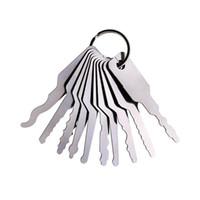 ingrosso fabbri forniture-Set di grimaldelli robusti per chiavi Jiggler Set di serrature bifacciali in acciaio inox Utensili per fabbro professionali Forniture pratiche per hardware 15 2ns BB
