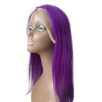 ingrosso le migliori parrucche di merletto vendute-Prodotti più venduti Pink Blue 130% Density Straight Lace Front Wigs all'ingrosso economici in magazzino per le belle donne G-EASY