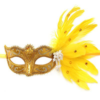 Wholesale clearbridal for sale - Group buy Venetian MJ026 Clearbridal With Mask Feathers Masquerade Women s Ieaor