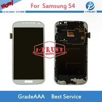 Wholesale Galaxy S4 I545 - TFT Adjustable For Samsung S4 i9500 i9505 i545 i337 M919 L720 LCD Display Screen Digitizer With Free Reparie tools and free Shipping