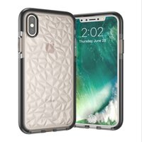 Wholesale back iphone color for sale - Simple Diamond Pattern Phone Case For Iphone Plus X XR XS MAX Candy Color Anti Knock Soft Clear Back Cover
