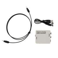 rca koaks adaptörü toptan satış-Analog R / L / RCA Ses Sinyali Dönüştürücü Adaptör Freeshipping Dijital Optik Toslink Koaksiyel