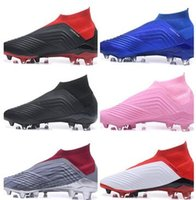 Wholesale shoelace new online - No laces Predator Falcon No laces football training Sneakers new Waterproof FG shoelace studded cleated boots studded cleated shoes