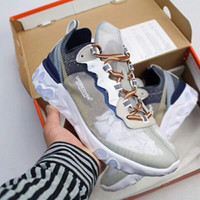 Wholesale yarn lace - WITH BOX Hot Original Epic React Element 87 Undercover Breathable mesh yarn Women Mens Casual Shoes Free ship