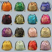 ingrosso braccialetti artigianali-Sacchetto cinese del sacchetto del regalo dei monili del tessuto del raso del regalo dei monili del sacchetto del sacchetto del sacchetto del sacchetto del sacchetto del sacchetto di immagazzinaggio del mestiere 10pcs