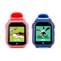 телефоны часы китайские оптовых-Дети GPS Smart Watch местоположение вызова трекер водонепроницаемый дети телефон часы с китайским английским языком Sim Smartwatch