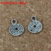 palhetas diy venda por atacado-MIC de corda de palha pingentes 200 pçs / lote venda quente liga de prata antiga jóias DIY 11 x 15 mm A-186