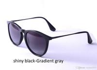 diseñador de moda gradiente al por mayor-Erika 4171 Gafas de sol Moda Mujer Gafas de sol polarizadas Gafas de sol de diseñador de marca 54 mm Gradient Lentes de resina Marco de nylon Metal Templo