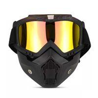 крест кантри оптовых-Harley ретро шлем Goggle Маска ветер зеркало кросс-кантри мотоцикл очки ретро ветреные зеркала маски для лица Оптовая 25tf гг