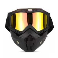 Wholesale retro motorcycles helmets for sale - Harley Retro Helmet Goggle Mask Wind Mirror Cross Country Motorcycle Goggles Retro Windy Mirrors Face Maskes tf gg