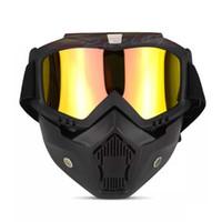 kros kasası kaskı toptan satış-Harley Retro Kask Gözlüğü Maske Rüzgar Ayna Kros Motosiklet Gözlük Retro Windy Aynalar Yüz Maskeleri Toptan 25tf gg