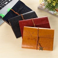 Wholesale r notebook - Vintage Butterfly Bandage Notepad Multi Color Travel Diary Book Creative PU Leather Notebook 8 25yd C R