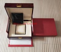 hochleistungsuhren großhandel-Luxus hohe Qualität Red HUB Uhrenbox Papers Card Holz Geschenkboxen Handtasche für Bang King Power Diver 311.SX.1170.GR Mann Frau Geschenk Uhrenbox