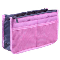 Wholesale double makeup bag - Double zipper large bag with multi-function packing bag small makeup bag to receive inside bladder.