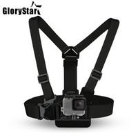 gopro sport kameras großhandel-Brustgurt Gürtel für Gopro Hero 5 4 Xiaomi yi 4K Action Kamera Brustgurt für Go Pro SJCAM SJ4000 Sport-Cam-Fix
