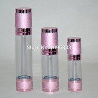 ingrosso bottiglie di pompa del siero-30 ml bottiglia senz'aria di colore rosa viola, 30 g bottiglia di vuoto per cosmetici, essenza lozione pompa per lozione bottiglia per lozione, 30 pz / lotto