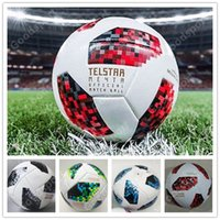 Wholesale 2018 red knock out stage match New RUSSIA Premier PU football Ball World soccer Ball PU Champion outdoor Sport Training Calcio Cup Futebal